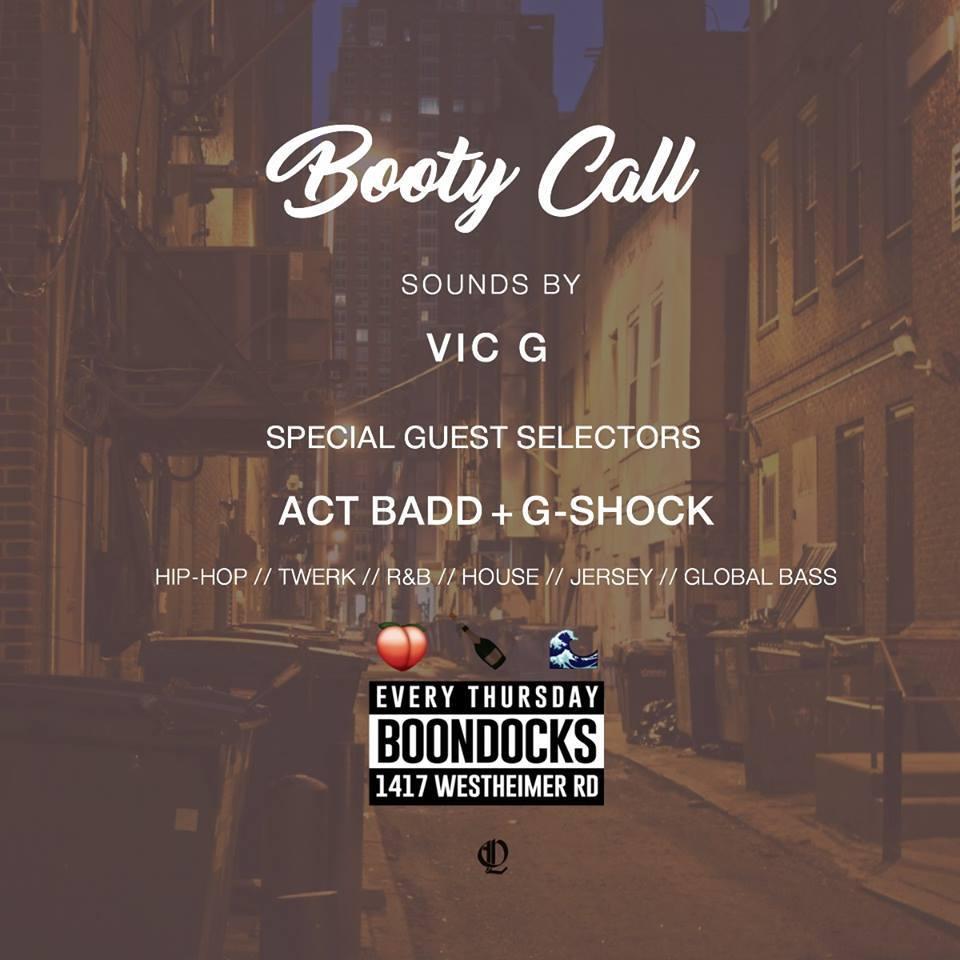 Booty Call Thursdays