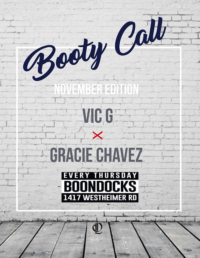 Booty Call Boondocks November